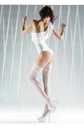 Ciorapi albi cu banda adeziva Just Married