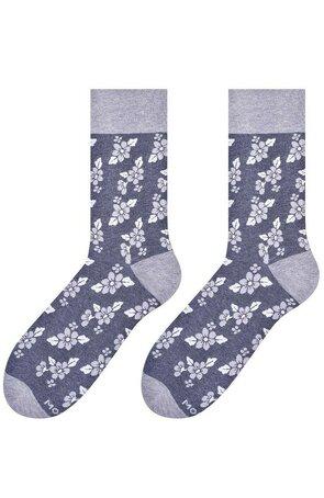 Sosete barbati - Sosete colorate - Sosete lungi - fabricate din bumbac, cu model cu motiv floral - Happy socks - More S051-091 Flowers