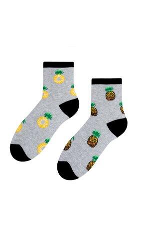 Șosete gri cu ananas S159-014
