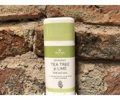 NATURAL DEODORANT SOLID CU TEA TREE SI LIME 70 GR