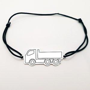 Bratara Camion - Argint 925, snur negru