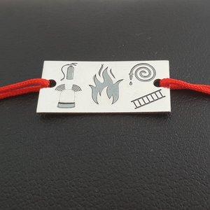 Bratara Pompier - Argint 925, snur reglabil