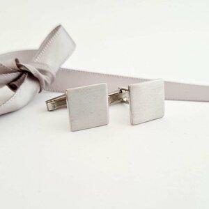 Butoni camasa personalizati - Model patrat 14X14 mm - Argint 925