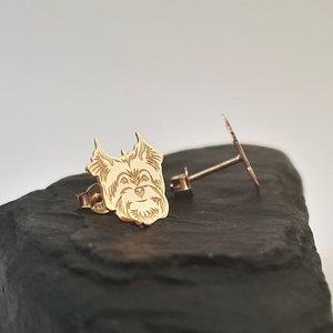 Cercei Yorkshire - Aur Galben 14K - inchidere surub