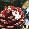 Charm personalizat Craciun - Clopotel - Argint 925 placat cu Aur roz 14K - cristal Swarovski