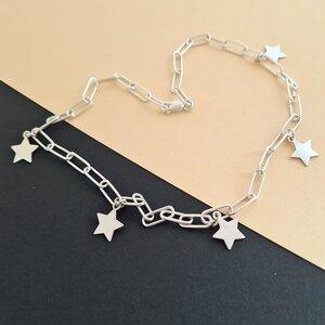 Colier personalizat - Chic Elements - Lant cu zale dreptunghiulare - Pandantiv diverse modele - Argint 925