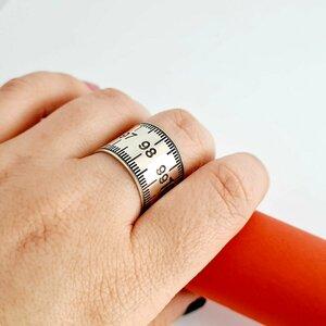 Inel Metrumasuratoare - Model lat - Argint 925