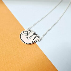 Lantisor cu pandativ - omuletul lenes sloth - Argint 925