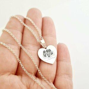Lantisor inima 3 Surori/Prietene cu Par Valvoi -  Argint 925