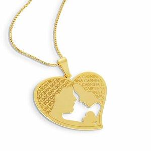 Lantisor Inima - Cuplu - Argint 925 placat cu Aur 14K