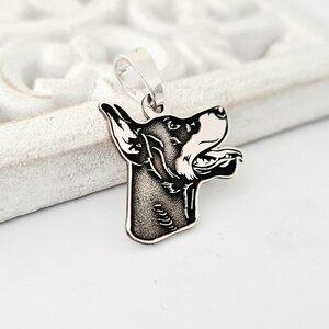 Pandantiv personalizat - Doberman - Argint 925