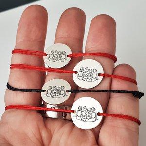 Set Cadou 4 bratari surori / prietene - banut din Argint 925, snur diverse culori