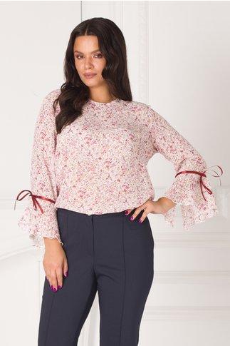 Bluza Dana roz cu floricele