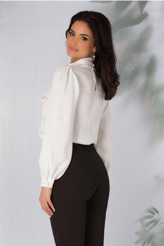 Bluza ivoire eleganta cu esarfa detasabila