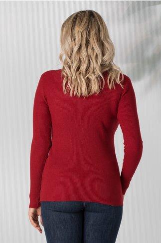 Bluza Simona rosie cu decolteu in V