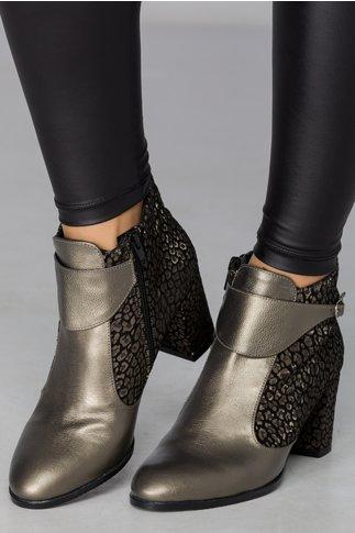 Botine Catta kaki cu imprimeu lucios