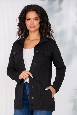 Jacheta Corry neagra din denim