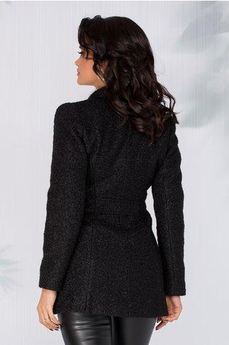 Palton Delia negru scurt