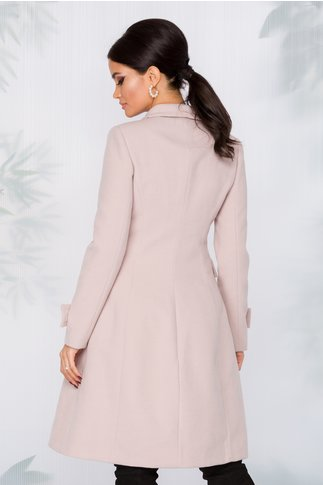 Palton MBG nude rose cu nasturi argintii