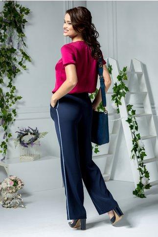 Pantaloni Lena office bleumarin