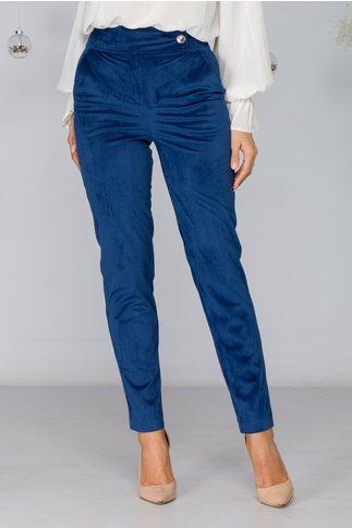 Pantaloni Alice bleumarin cu buzunare