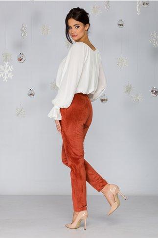 Pantaloni Alice caramizii cu buzunare