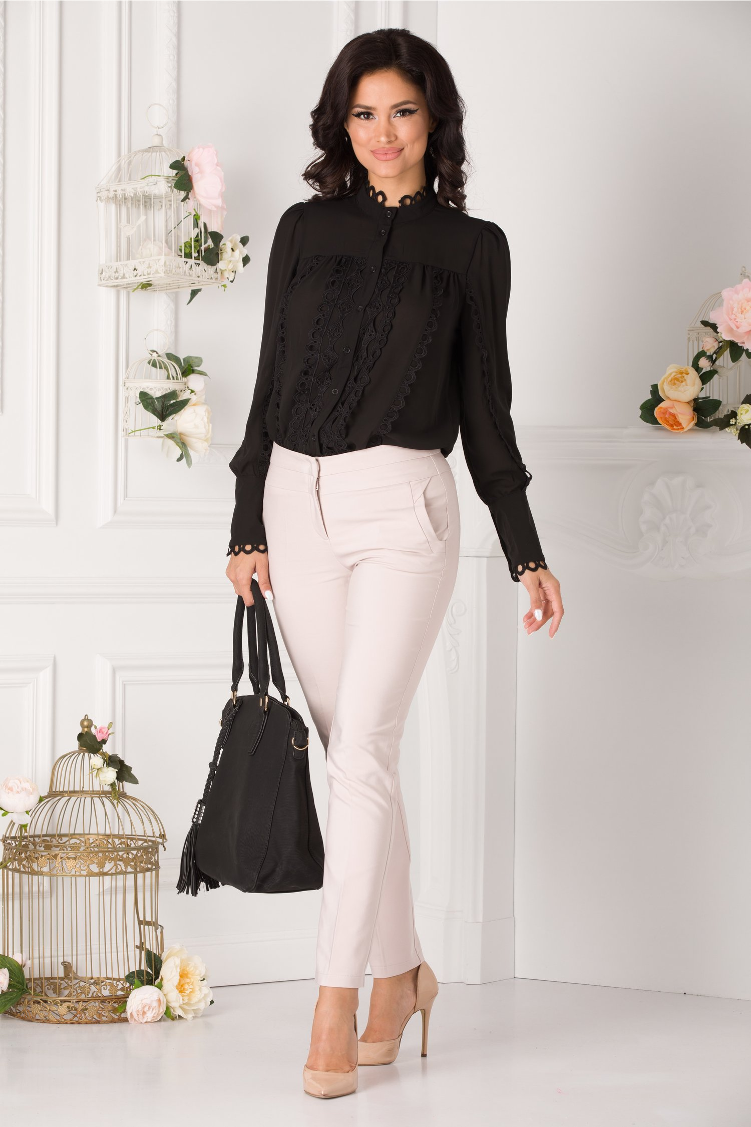 Pantaloni Alicia Office Bej