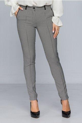 Pantaloni LaDonna negri cu imprimeu hipnotizant