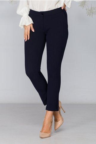 Pantaloni Lydia bleumarin cu dunga