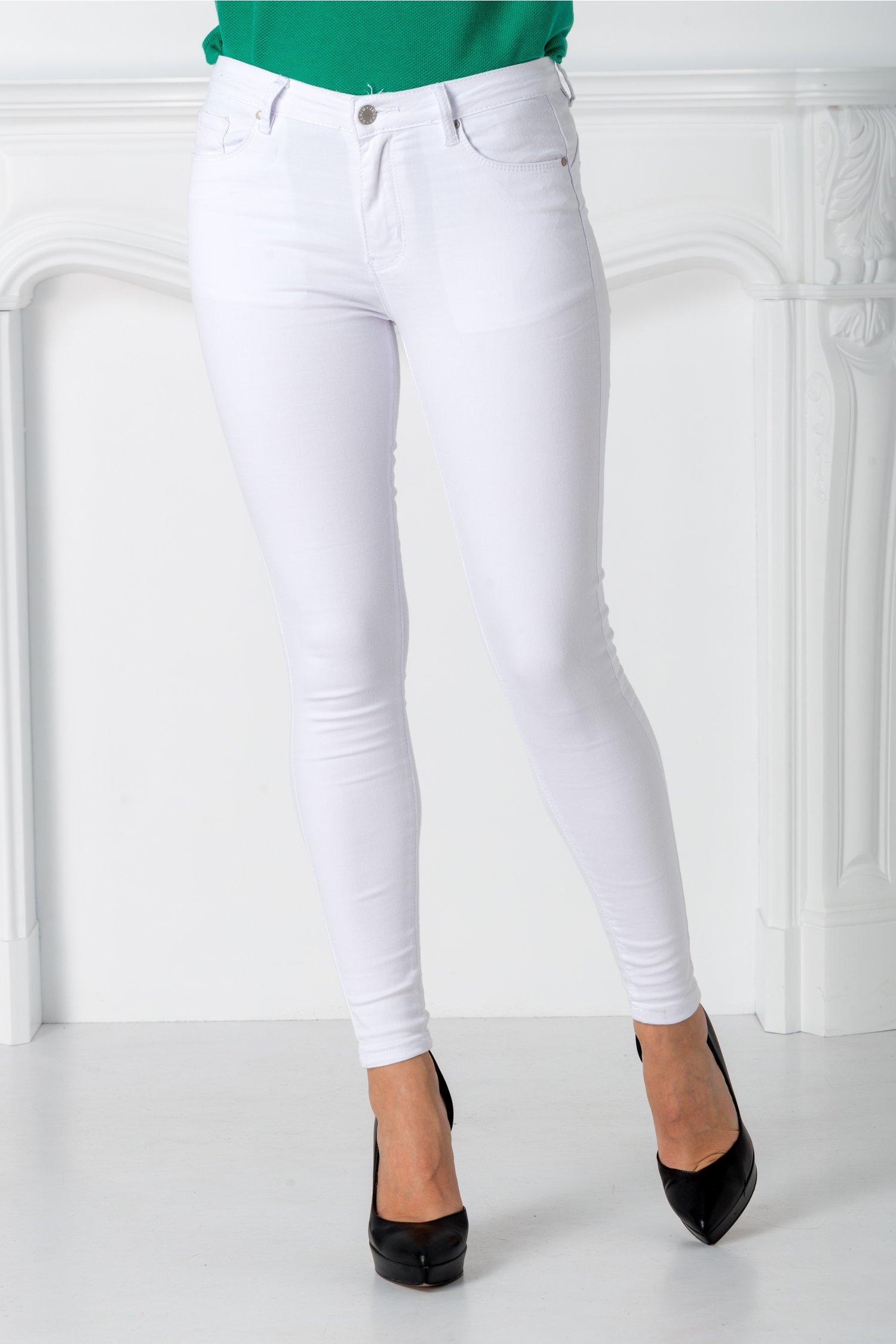Pantaloni Mali albi