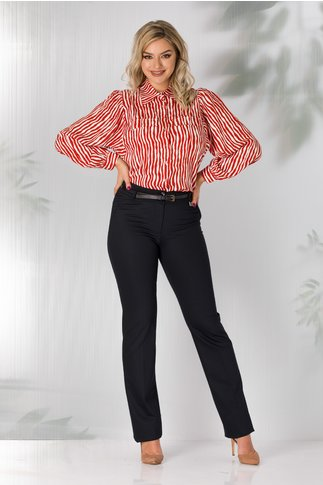 Pantaloni Marisa office bleumarin