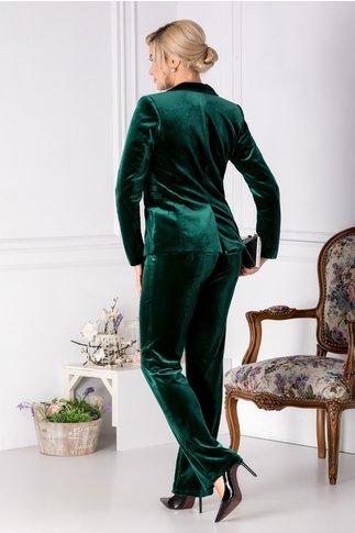 Pantaloni Moze din catifea verde