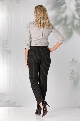 Pantaloni Sonia office negri cu dungi