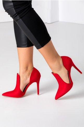 Pantofi Lexxie rosii stiletto