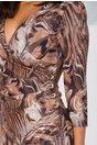 Rochie Adalia cu aspect petrecut si nasturi decorativi in lateral