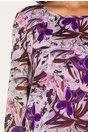 Rochie Aliss vaporoasa cu imprimeu violet