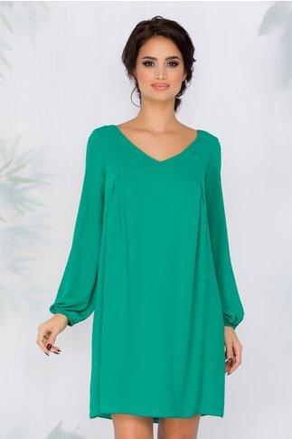 Rochie Amelie verde vaporoasa