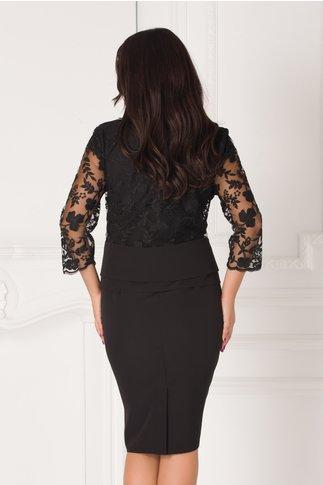 Rochie Cami negru cu bolero din dantela florala