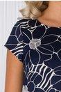 Rochie Celly bleumarin cu imprimeu floral alb