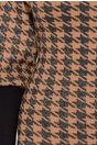 Rochie Daria maro cu imprimeu negru si insertii argintii