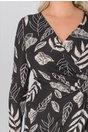 Rochie Eliza neagra cu imprimeuri alba
