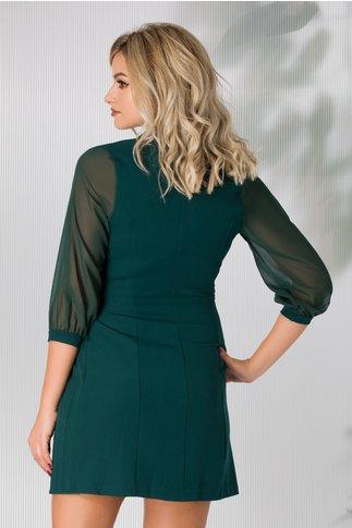 Rochie Gherda verde cu aspect petrecut