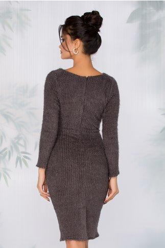 Rochie Gina gri tip tricot