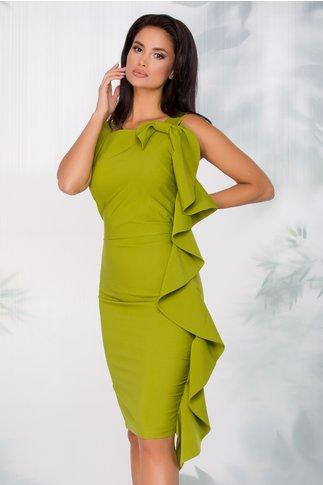 Rochie LaDonna verde crud cu funda maxi