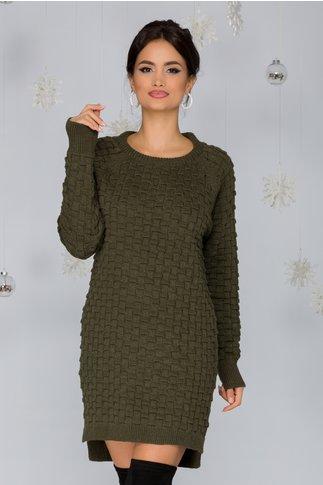 Rochie Mary kaki tricotata