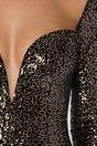 Rochie MBG neagra din catifea cu paiete aramii