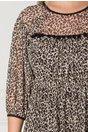Rochie Moze cu ciucuri si print leopard