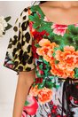 Rochie Moze de vara cu imprimeu divers multicolor