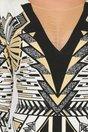 Rochie Nefertiti cu imprimeu de inspiratie egipteana