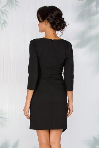 Rochie Nya neagra cu aspect petrecut